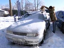 Последствия ледяного дождя в Приморье