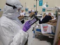 """Резервный госпиталь для больных коронавирусом в ледовом дворце """"Крылатское"""""""