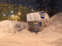Последствия сильного снегопада в Норильске