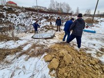 Работы по блокированию доступных входов в подмосковные пещеры Сьяны