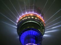 Новогодняя подсветка Останкинской телебашни