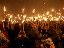 """Специальный репортаж """"Событий"""". Прибалтийский марш"""