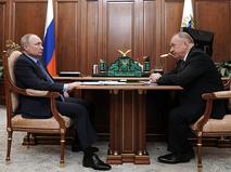 Владимир Путин и президент торгово-промышленной палаты Сергей Катырин