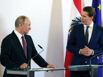 Владимир Путин и канцлер Австрии Себастьян Курц