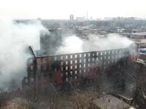 """Последствия пожара на фабрике """"Невская мануфактура"""""""