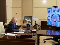 Владимир Путин проводит онлайн-заседание