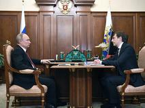 Владимир Путин и Сергеей Кравцов
