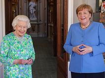Елизавета II и Ангела Меркель