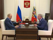 Владимир Путин и Юрий Борисов