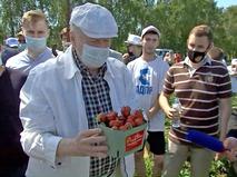 Владимир Жириновский с клубникой