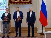 Сергей Собянин во время вручения наград архитекторам