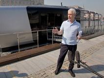 Сергей Собянин осмотрел прототип нового речного трамвайчика