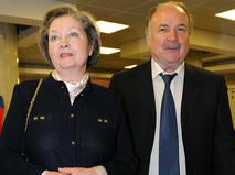 Николай Губенко и Жанна Болотова на киноконцерте, посвящённом 200-летию Бородинской битвы