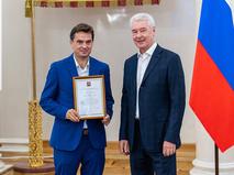 Сергей Собянин наградил футболистов сборной России по пляжному футболу