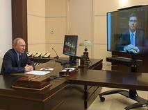 Владимир Путин в режиме видеоконференции пообщался с Александром Авдеевым