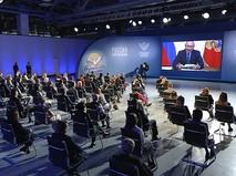 Владимир Путин общается с учителями