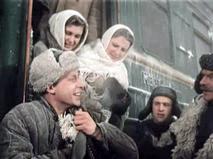 """Кадр из фильма """"Первый эшелон"""""""