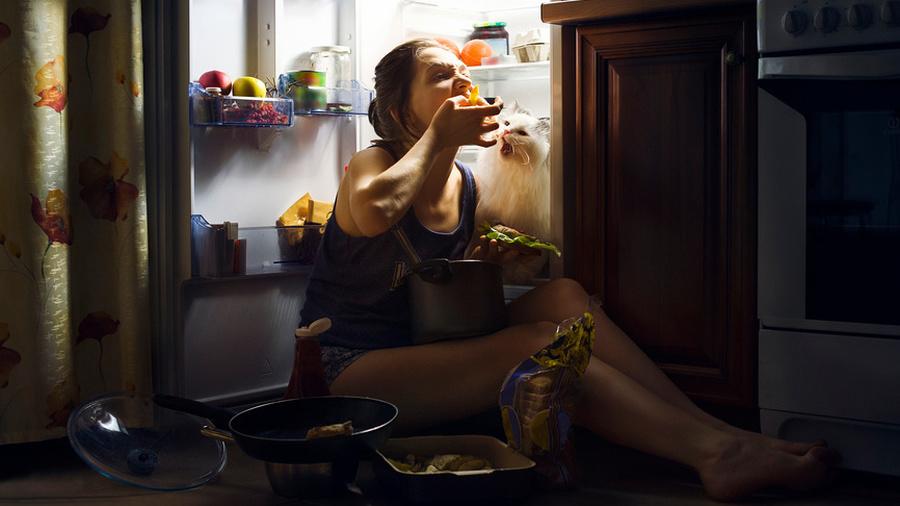 Ночь, голод, кухня, холодильник : Включи настроение