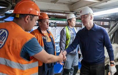 Собянин рассказал о ходе строительства западного участка БКЛ