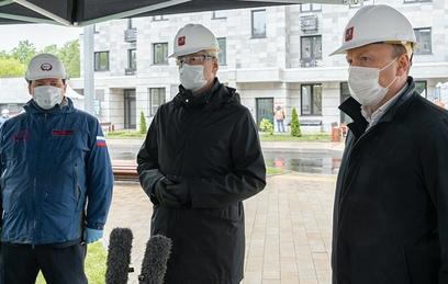 Собянин осмотрел стартовый дом программы реновации в районе Ростокино