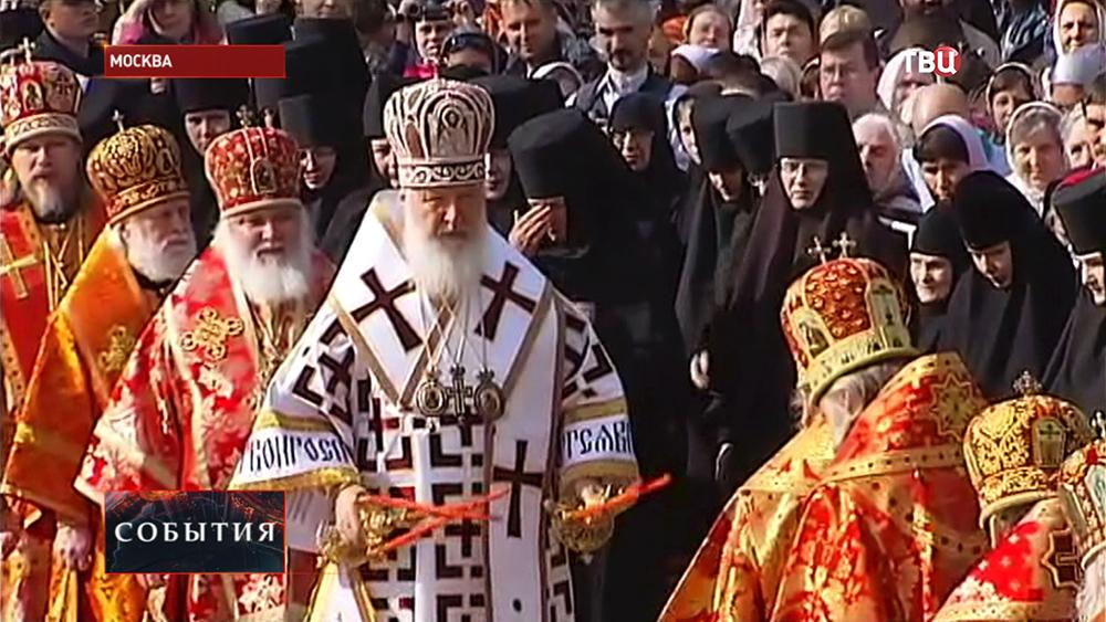 Патриарх Московский и всея Руси Кирилл отслужил литургию на Бутовском полигоне