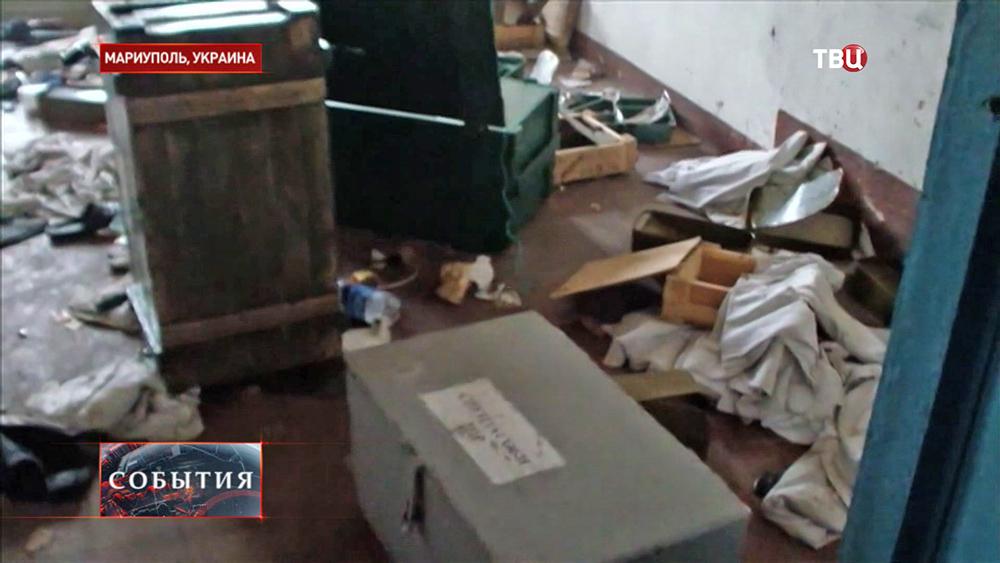 Национальная гвардия Украины покинула воинскую часть Мариуполя