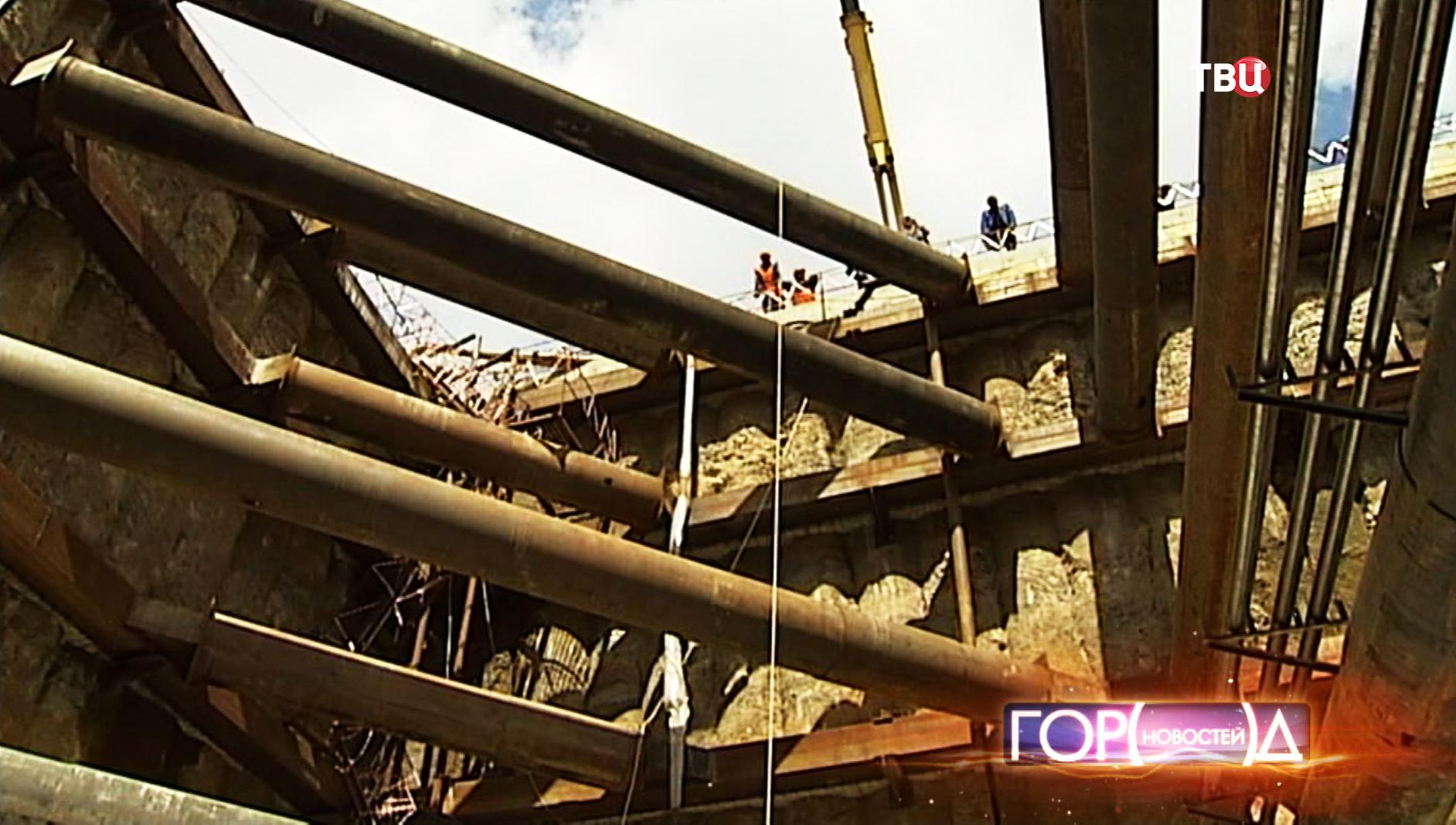 Строительные работы нового участка метро