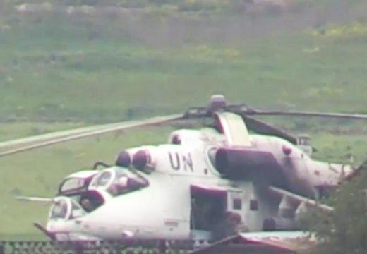 Вертолет Ми-24 с символикой ООН