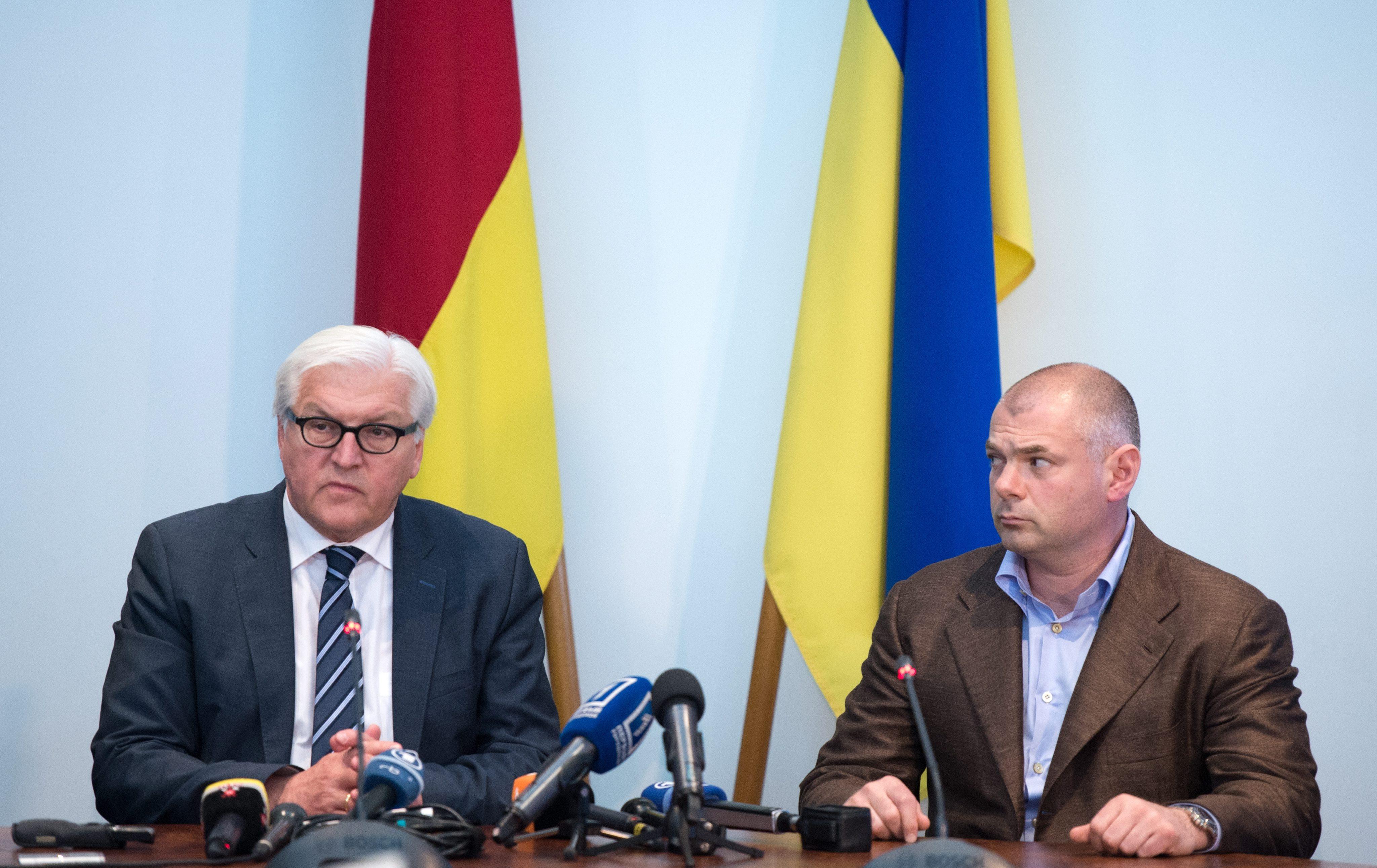 Визит главы МИД Германии Франка-Вальтера Штайнмайера на Украину