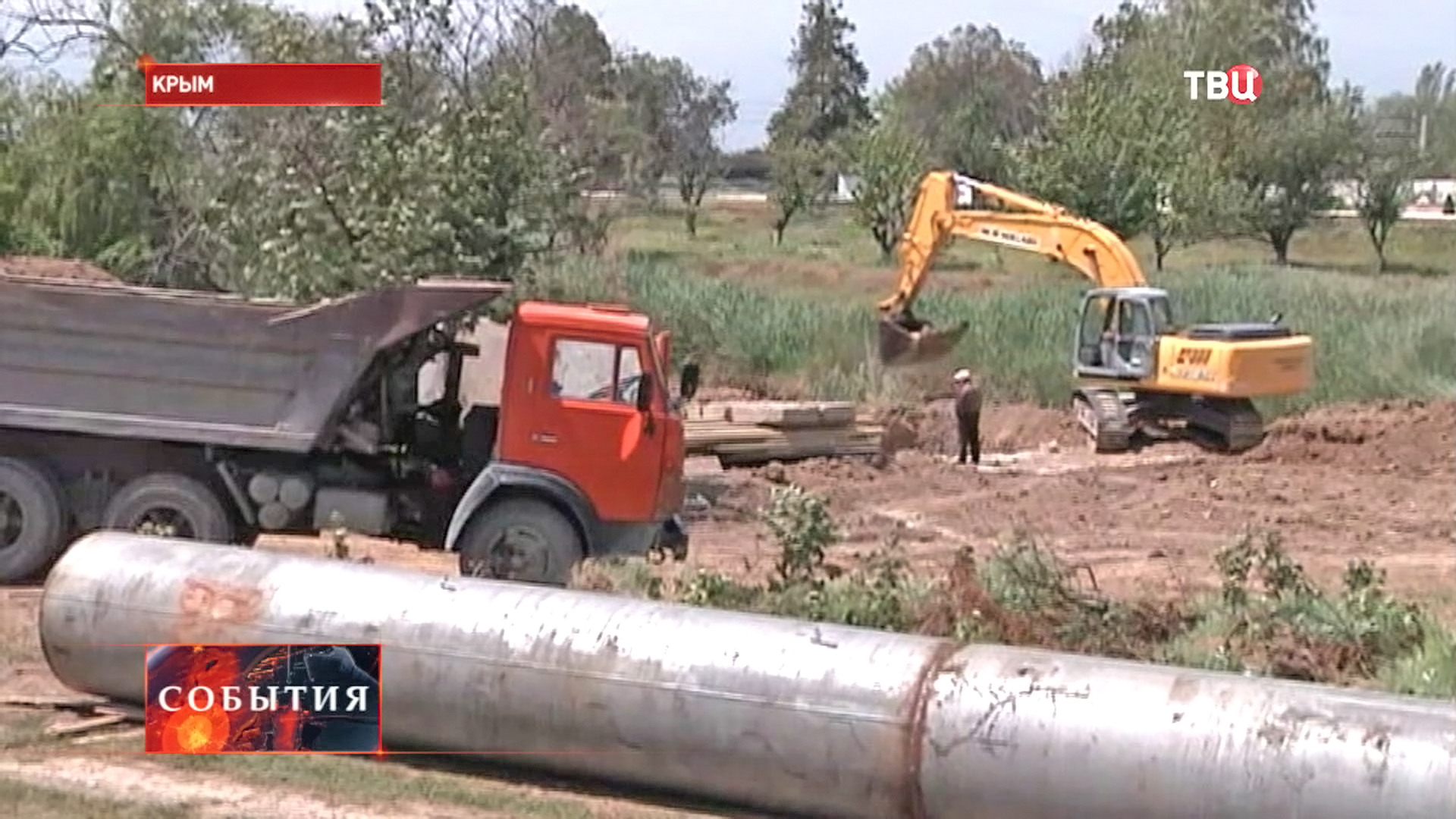 Рабочие бурят новые скважины в Крыму