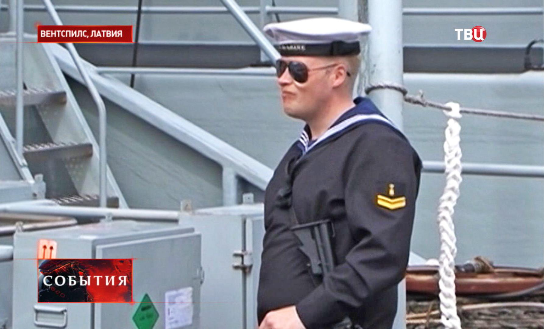 Моряк НАТО в Латвии