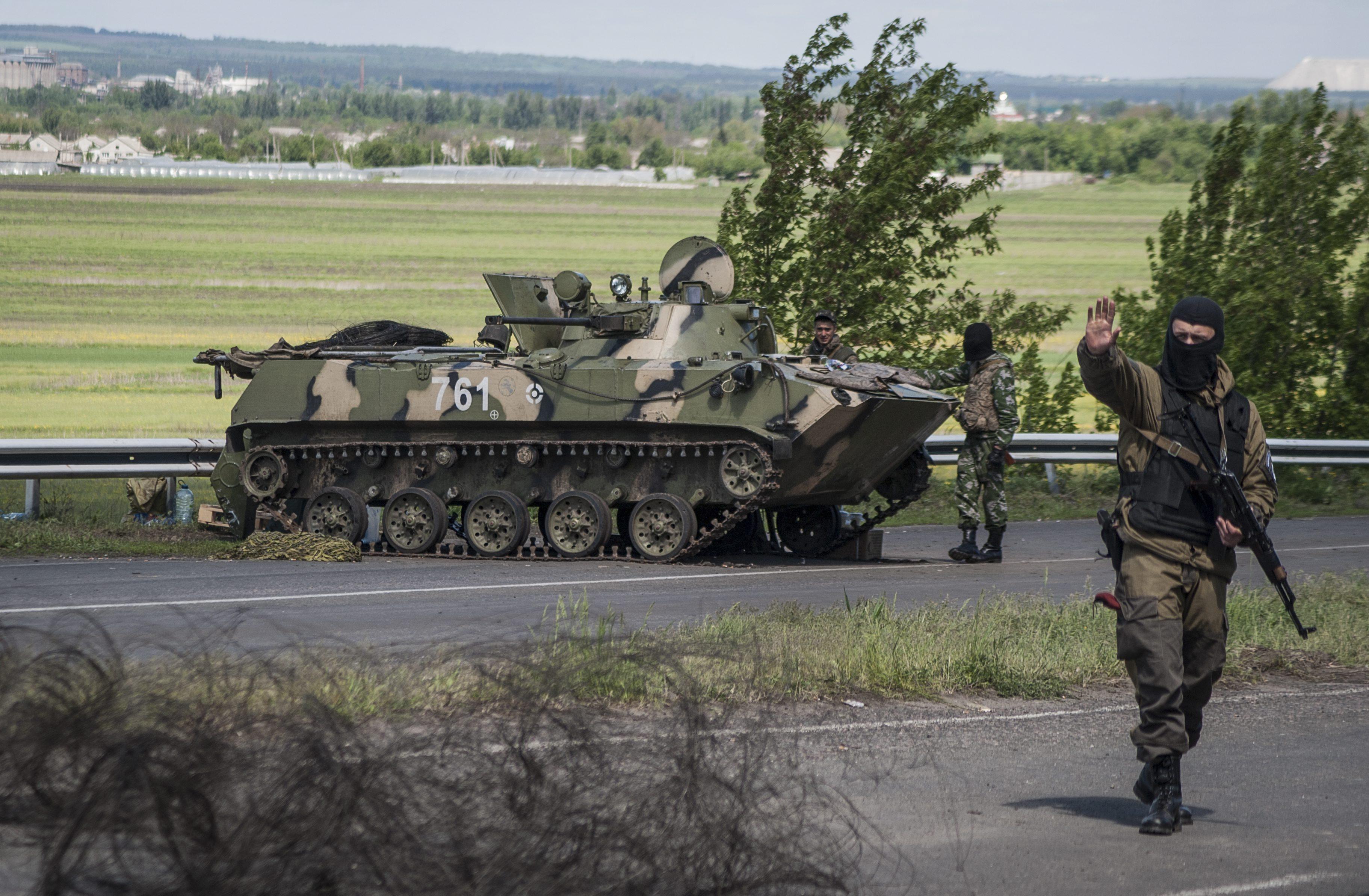Украинские военные под Луганском