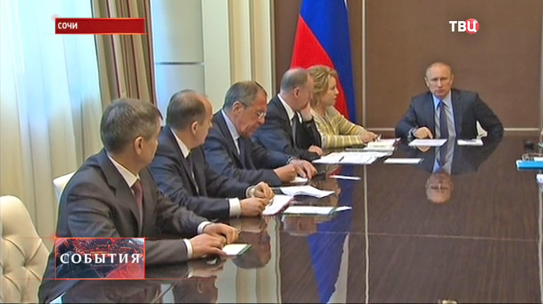 Владимир Путин на заседании Совета Безопасности