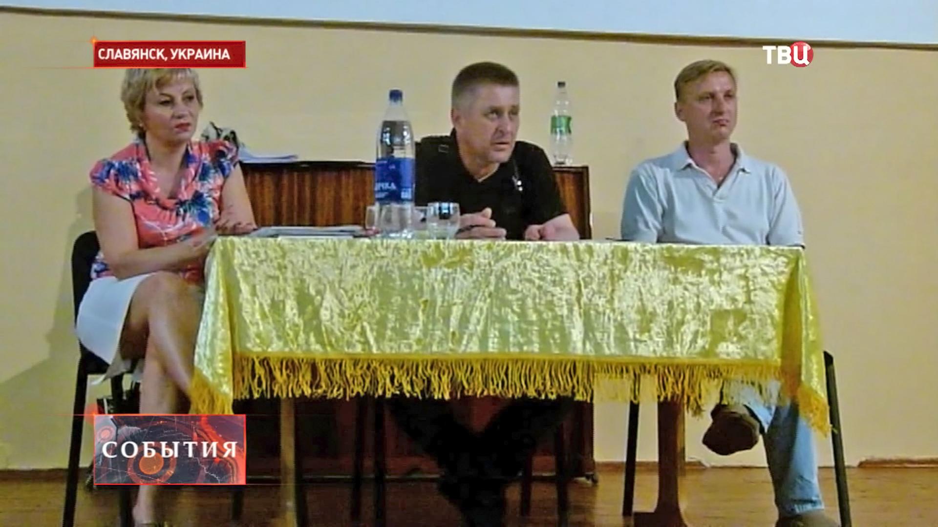 Народный мэр города Славянска Вячеслав Пономарев