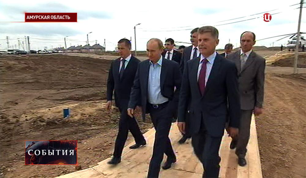 Владимир Путин встретился с пострадавшими от потопа жителями Приамурья