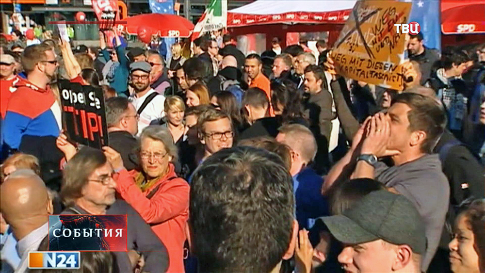 Митинг в Германии против войны на Украине