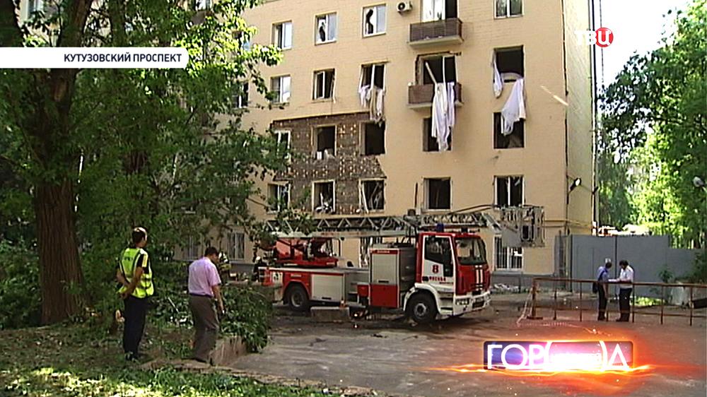 Последствия взрыва газа в жилом доме на Кутузовском проспекте