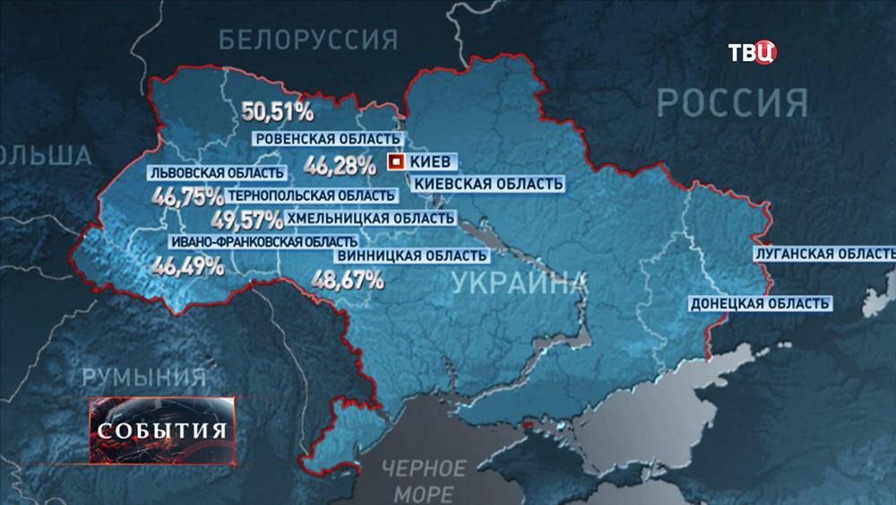 Процент явки избирателей на выборах на Украине