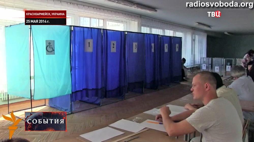 Избирательный участок в Краматорске
