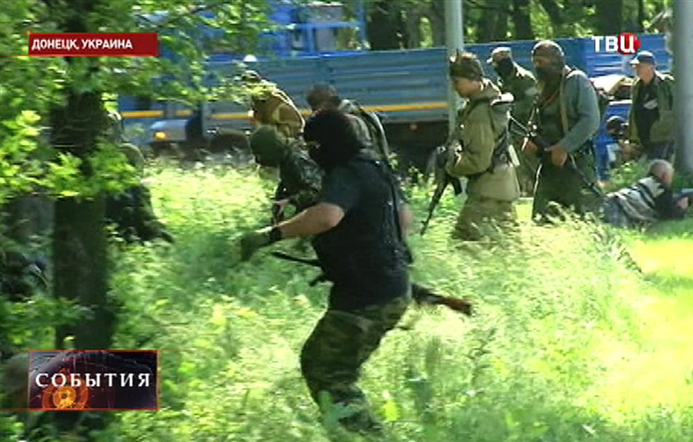 Народные ополченцы в Донецка
