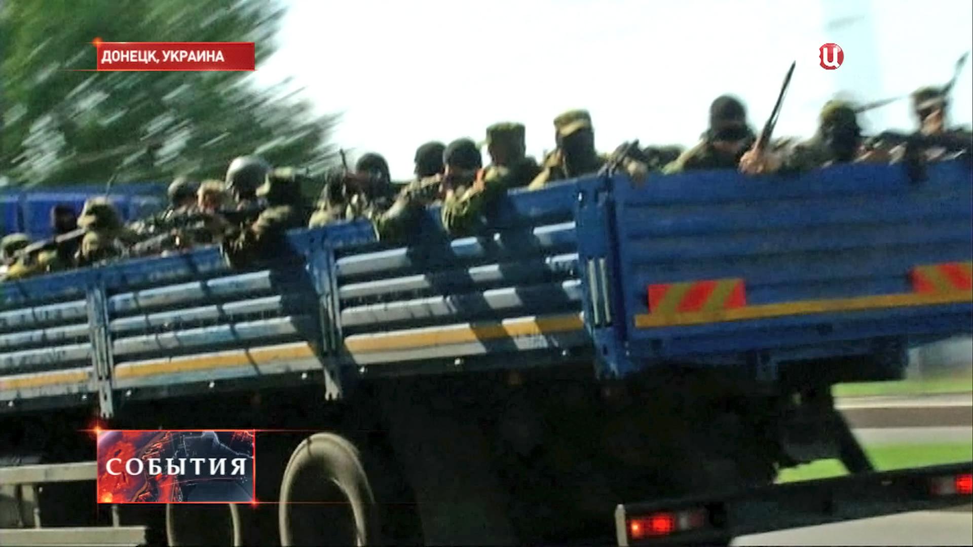 Украинские военные в Донецке