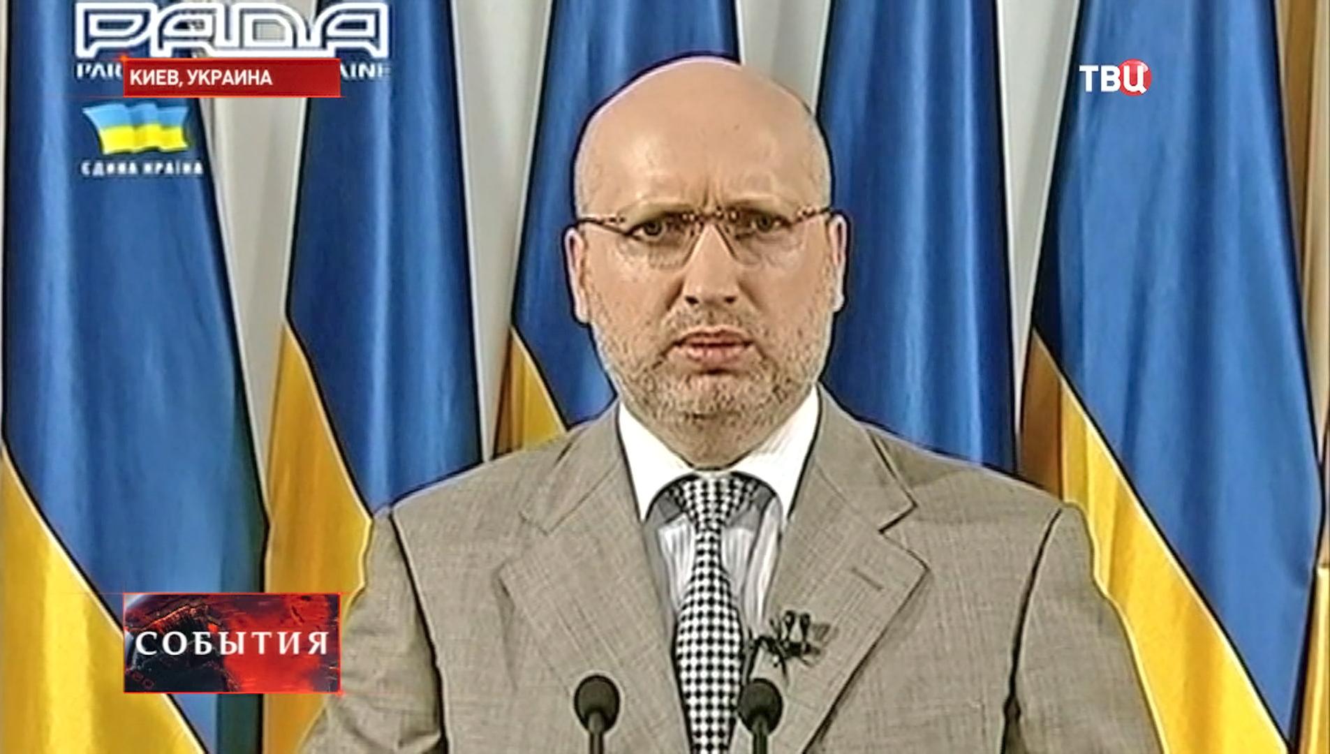 И. о. президента Украины Александр Турчинов