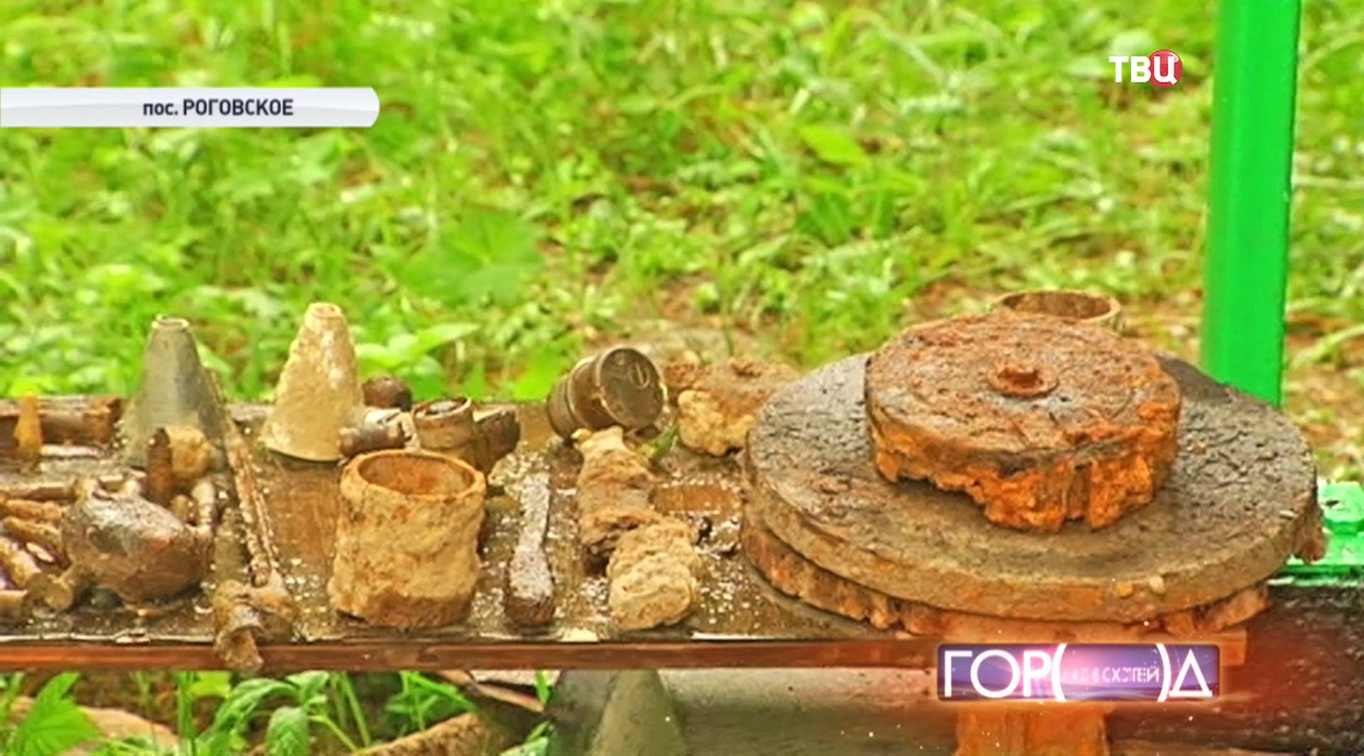 Найденные боеприпасы времен ВОВ
