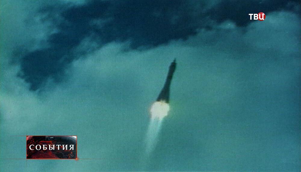 Полет космической ракеты