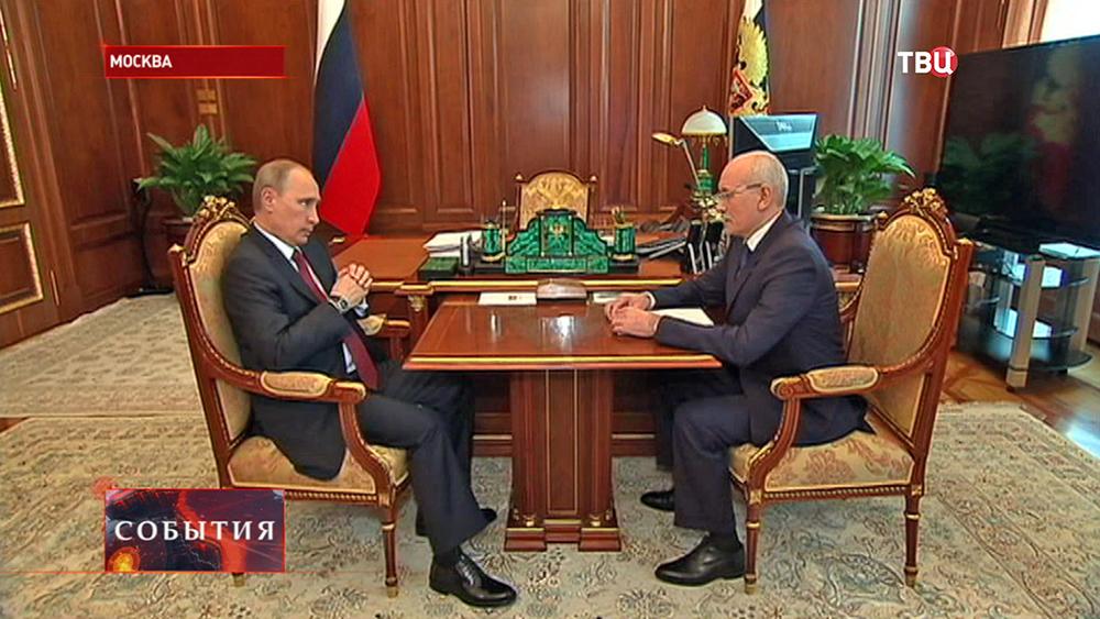 Президент РФ Владимир Путин и Рустэм Хамитов
