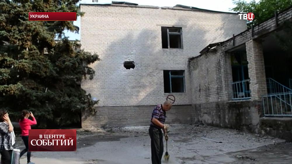 Последствия обстрела Славянска