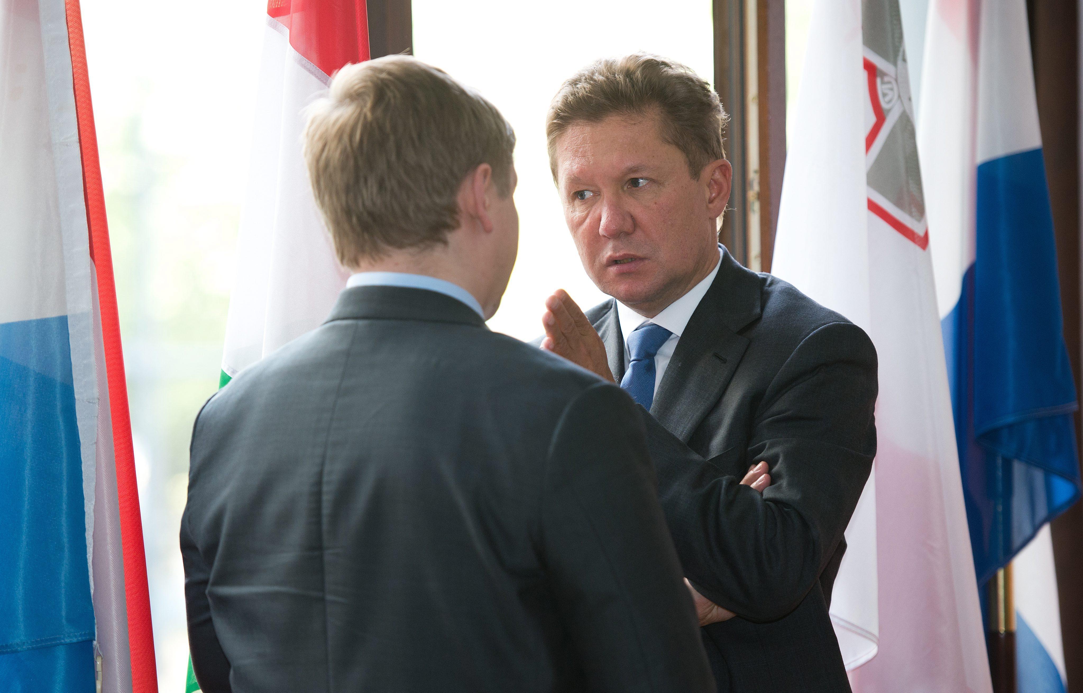 Алексей Миллер во время переговоров по вопросам поставок российского газа на Украину