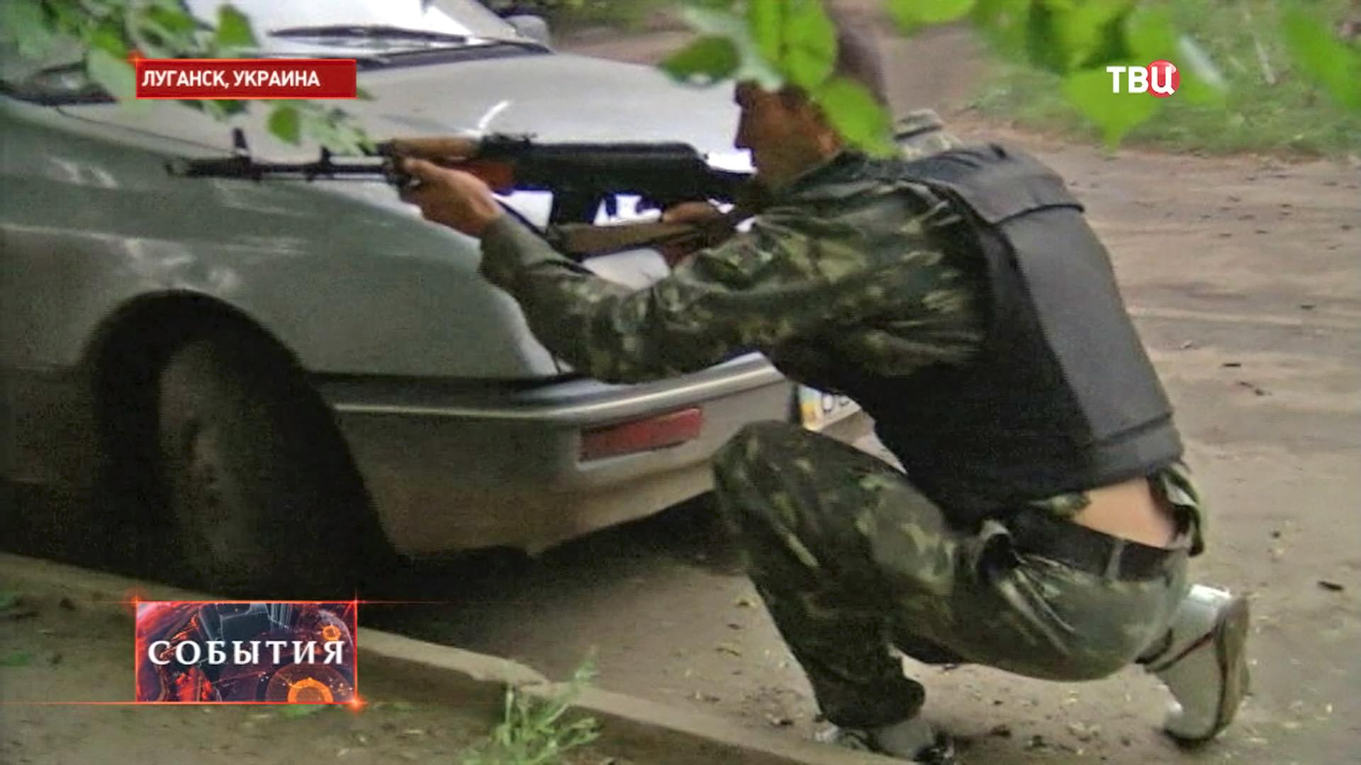 Народный ополченец в Луганске