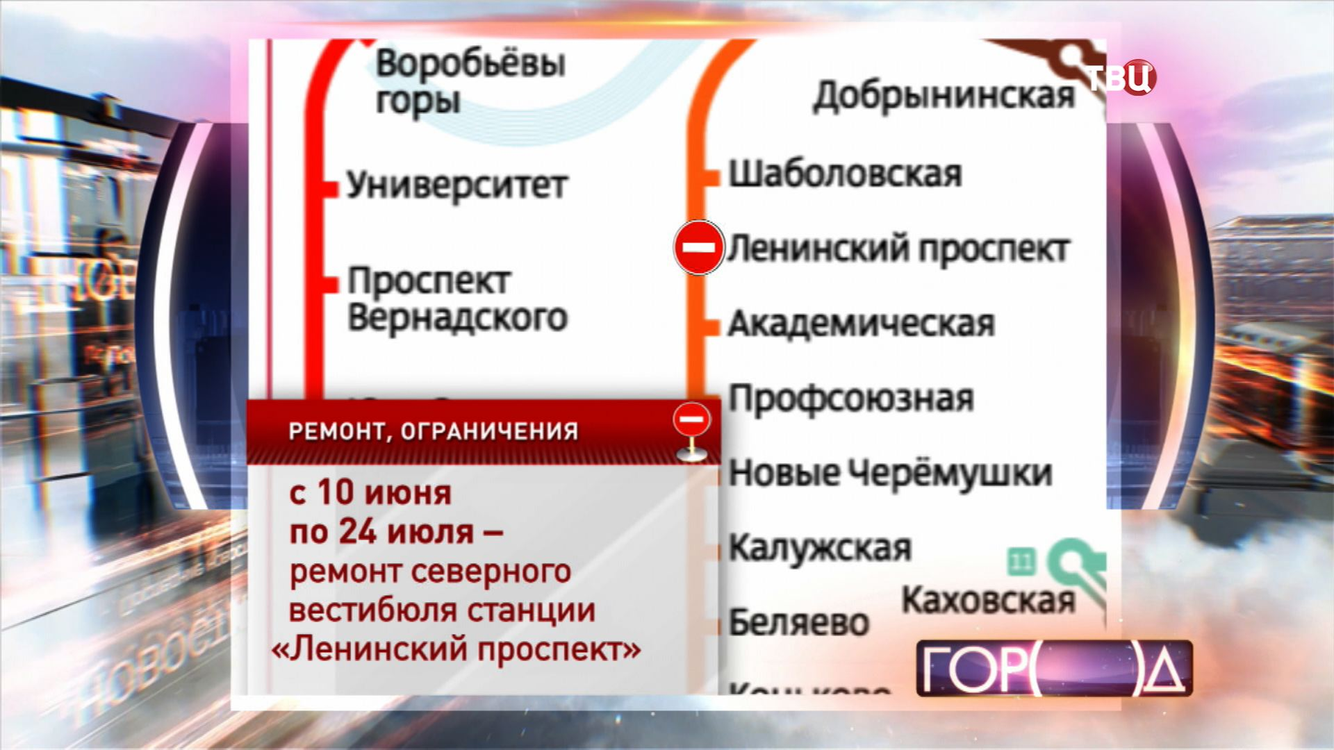 """Ремонт станции метро """"Ленинский проспект"""""""
