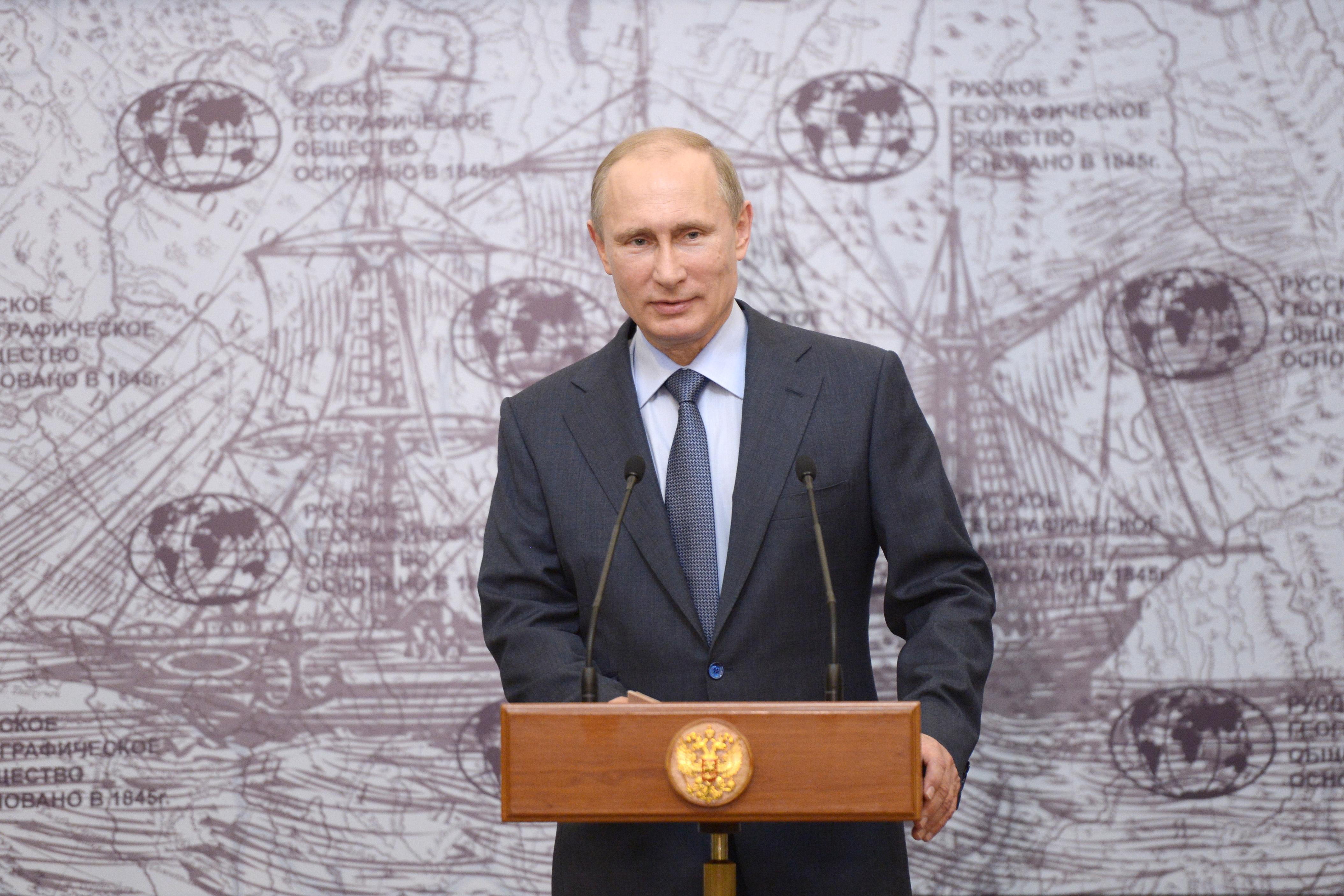 Владимир Путин на церемонии вручения государственных наград ученым-исследователям Антарктиды
